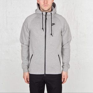 NIKE Tech Fleece Windrunner Full Zip Hoodie Gray L